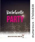 bride's party card | Shutterstock .eps vector #576066838