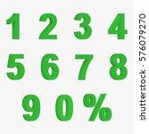 set of green 3d figures and... | Shutterstock .eps vector #576079270
