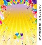 blue easter frame | Shutterstock .eps vector #576081790