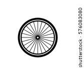 bicycle wheel vector icon | Shutterstock .eps vector #576083080
