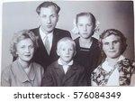 ussr  leningrad   circa 1963 ... | Shutterstock . vector #576084349