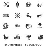 agriculture vector icons for...