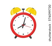 alarm clock red isolated on... | Shutterstock .eps vector #576099730