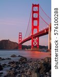 golden gate bridge of san... | Shutterstock . vector #576100288