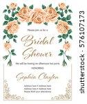 bridal shower or wedding... | Shutterstock .eps vector #576107173