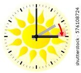 vector illustration of a clock... | Shutterstock .eps vector #576108724