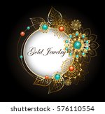 round  jewelry banner decorated ...