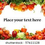 different fresh tasty... | Shutterstock . vector #57611128