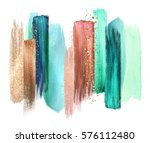 abstract watercolor brush... | Shutterstock . vector #576112480
