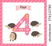cute children flashcard number... | Shutterstock .eps vector #576112780