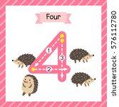 cute children flashcard number... | Shutterstock .eps vector #576112780