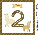 cute children flashcard number... | Shutterstock .eps vector #576112786