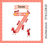 cute children flashcard number... | Shutterstock .eps vector #576112810