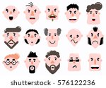 set of characters face flat... | Shutterstock . vector #576122236