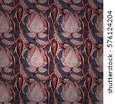 abstract flower seamless... | Shutterstock .eps vector #576124204
