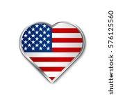 heart of us flag isolated on... | Shutterstock .eps vector #576125560