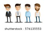 group of business men   working ... | Shutterstock .eps vector #576135553