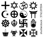 religious signs. others and... | Shutterstock .eps vector #576139504