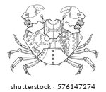 steampunk style crab.... | Shutterstock .eps vector #576147274