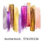 abstract watercolor brush... | Shutterstock . vector #576150136