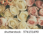 filter effects many flowers... | Shutterstock . vector #576151690