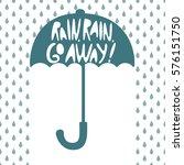 silhouette of an open umbrella  ... | Shutterstock .eps vector #576151750