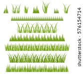 green grass set isolated on... | Shutterstock .eps vector #576154714