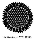 Sunflower Silhouette. Vector...