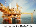 offshore construction platform... | Shutterstock . vector #576160114