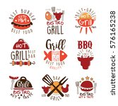 best grill bar promo signs... | Shutterstock .eps vector #576165238