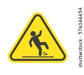 wet floor warning vector sign... | Shutterstock .eps vector #576166654