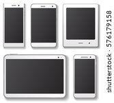 mobile device templates with... | Shutterstock . vector #576179158