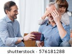 nice elderly man having his... | Shutterstock . vector #576181288