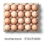 chicken eggs in container with... | Shutterstock . vector #576191830