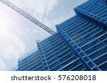 a crane in a construction work. ... | Shutterstock . vector #576208018