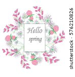 vector background with flowers... | Shutterstock .eps vector #576210826