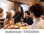leisure  food  drinks  people... | Shutterstock . vector #576212014
