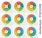 Set Of 4 12 Circle Chart...