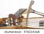 an acoustic guitar that has... | Shutterstock . vector #576214168