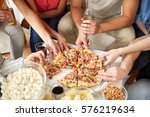 fast food  eating  party and... | Shutterstock . vector #576219634