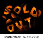 "3d rendering of red word ""sold... 