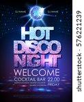 disco ball background. disco... | Shutterstock .eps vector #576221239