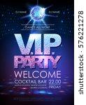 disco ball background. disco... | Shutterstock .eps vector #576221278