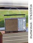 vintage radio tube in a flea... | Shutterstock . vector #576223516