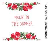 magic summer invitation card.... | Shutterstock .eps vector #576223534