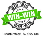 win win. stamp. sticker. seal.... | Shutterstock .eps vector #576229138