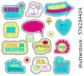 set of spring stickers  badges... | Shutterstock .eps vector #576234424