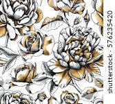 seamless pattern with image... | Shutterstock .eps vector #576235420