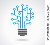light bulb idea icon with... | Shutterstock .eps vector #576237604