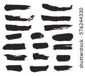 set of black stripes and... | Shutterstock .eps vector #576244330